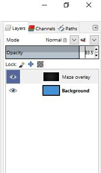 Maze Overlay Opacity