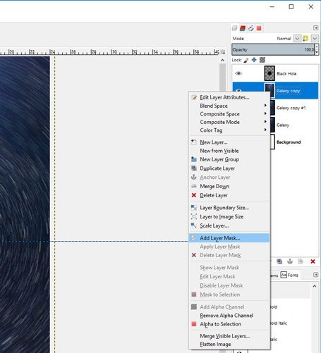 Add a Layer Mask to Your Layer in GIMP