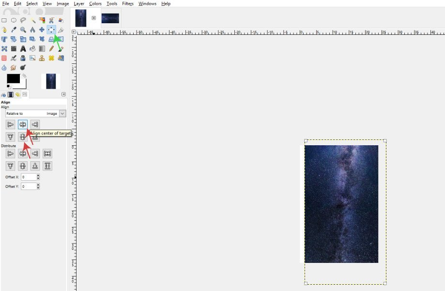 Use the Alignment Tool to Align the Image
