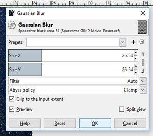 Go to Filters, Blur, Gaussian Blur