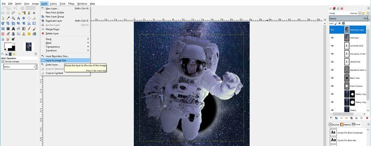 Expand Layer Boundary with Layer to Image Size