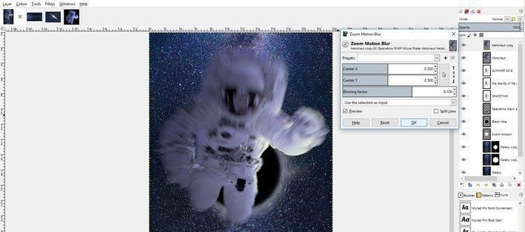 Zoom Motion Blur Settings