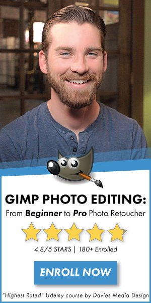 Take Our Highest Rated GIMP Photo Editing Course on Udemy